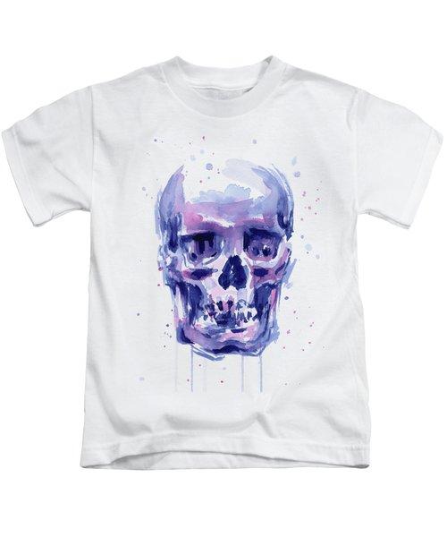 Skull Watercolor Kids T-Shirt