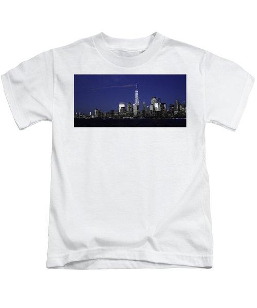 Skyline At Night  Kids T-Shirt
