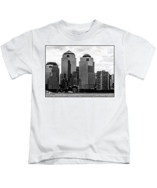 Skyline Nyc River View  Kids T-Shirt