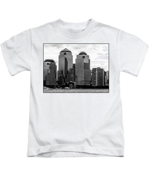 Skyline Nyc River View  Kids T-Shirt