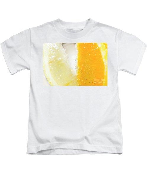 Slice Of Orange And Lemon In Cocktail Glass Kids T-Shirt