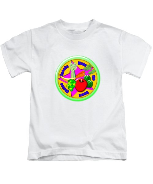 Smart Snacks Kids T-Shirt by Linda Lindall