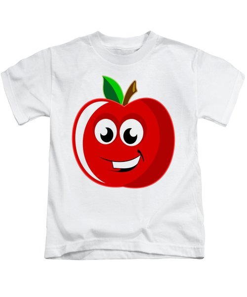 Smiley Tomato With Changeable Background  Kids T-Shirt by Sebastien Coell