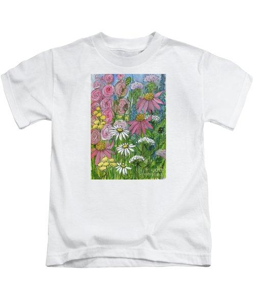 Smiling Flowers Kids T-Shirt