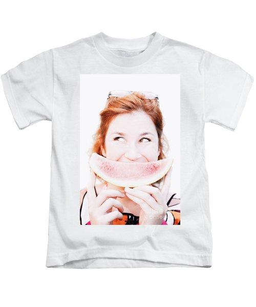 Smiling Summer Snack Kids T-Shirt
