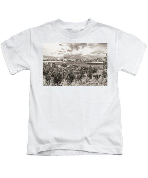 Snake River Overlook Grand Teton Kids T-Shirt
