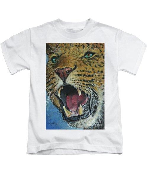 Snarl...amur Leopard Kids T-Shirt
