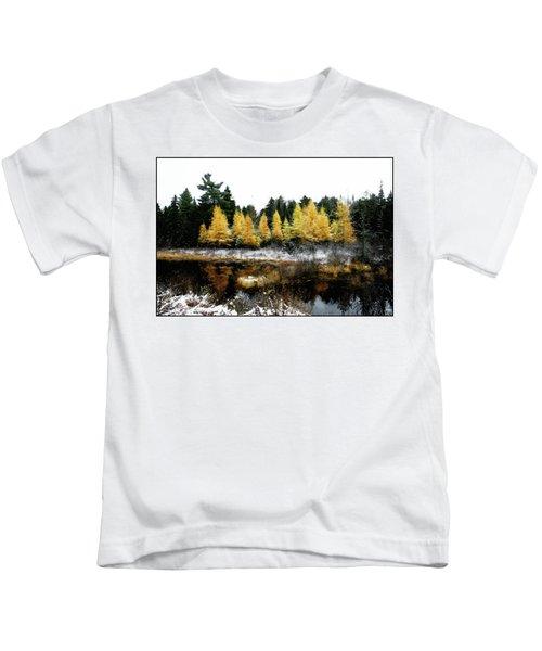 Snow Paints Larch Grove Kids T-Shirt