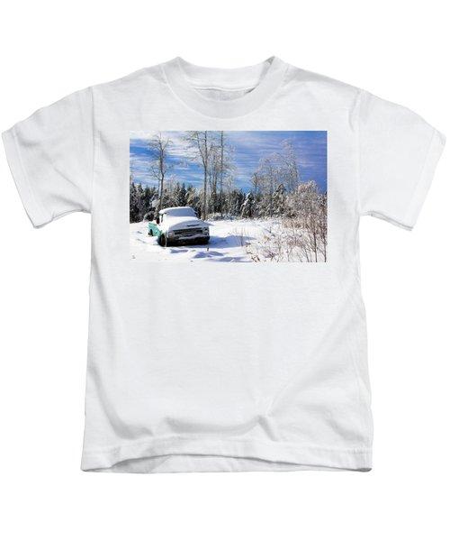 Snow Truck Kids T-Shirt