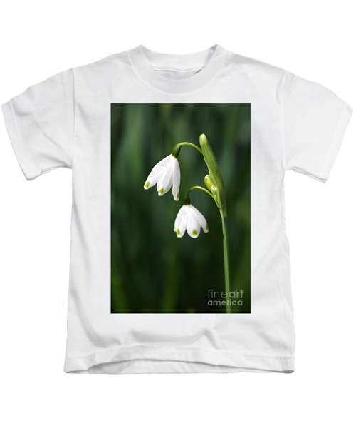 Snowdrops Painted Finger Nails Kids T-Shirt