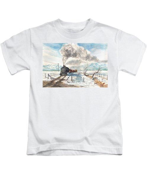 Snowy Crossing Kids T-Shirt