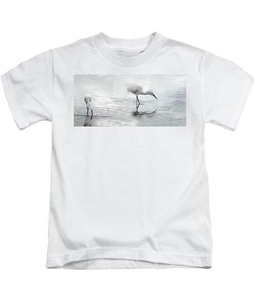 Snowy Egrets Kids T-Shirt