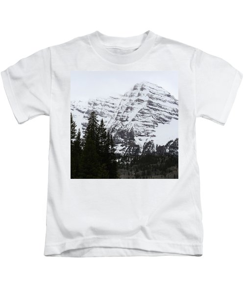 Snowy Striations Kids T-Shirt
