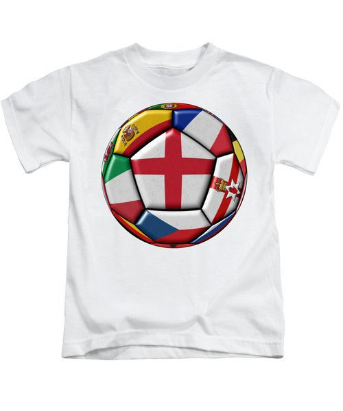 Soccer Ball With Flag Of England In The Center Kids T-Shirt