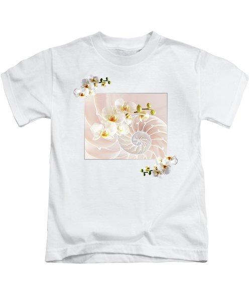 Soft Pink Fusion Kids T-Shirt by Gill Billington