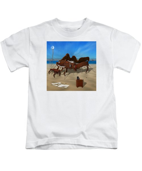 Softe Grand Piano Se Sq Kids T-Shirt by Mike McGlothlen
