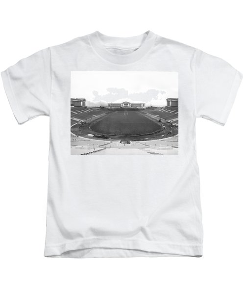 Soldier Field In Chicago Kids T-Shirt by Underwood Archives