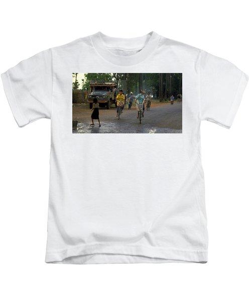 Songkran In Vientiane, Laos Kids T-Shirt