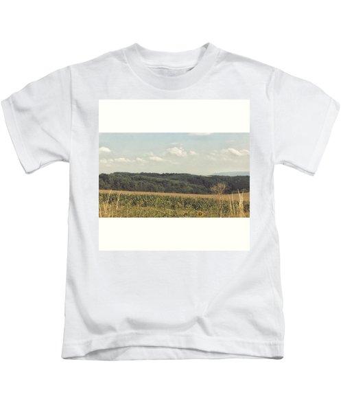 #sonnenblumenfeld #felder #sommer2015 Kids T-Shirt