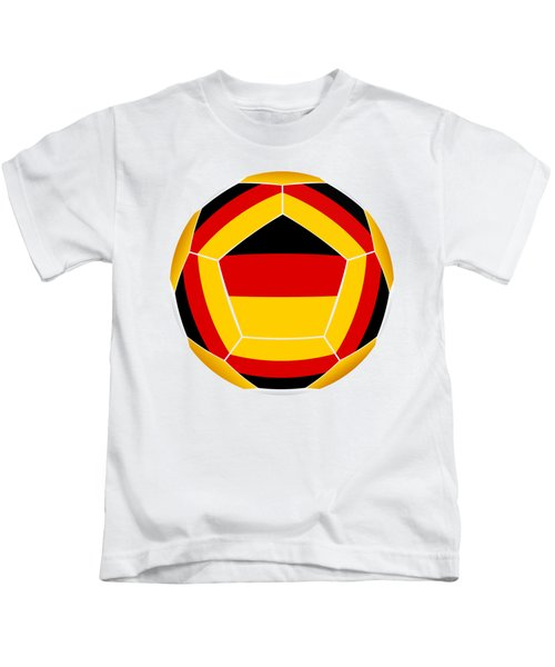 Soocer Ball With Germany Flag Kids T-Shirt