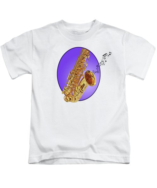 Sounds Of The Sax In Purple Kids T-Shirt