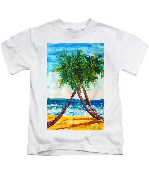 South Beach Palms Kids T-Shirt