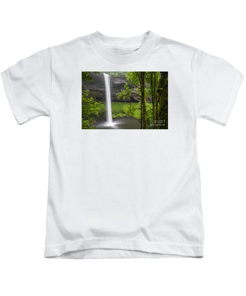 South Falls In Silver Falls State Park Kids T-Shirt