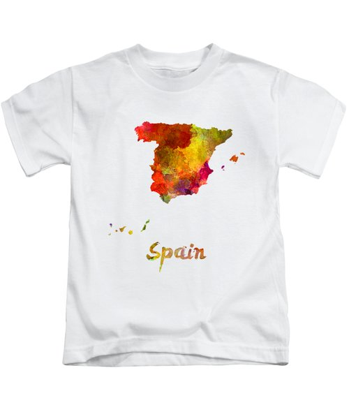 Spain In Watercolor Kids T-Shirt
