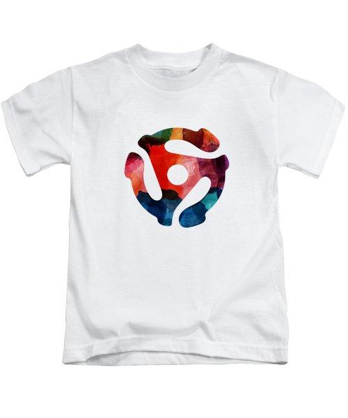Spinning 45- Art By Linda Woods Kids T-Shirt
