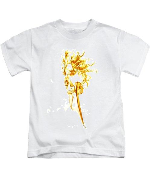 Ghostly Smoke - Orange Kids T-Shirt