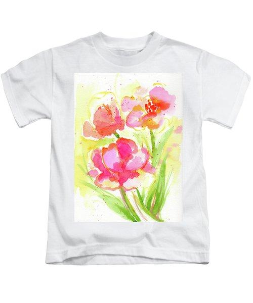 Splash Of Pinks  Kids T-Shirt