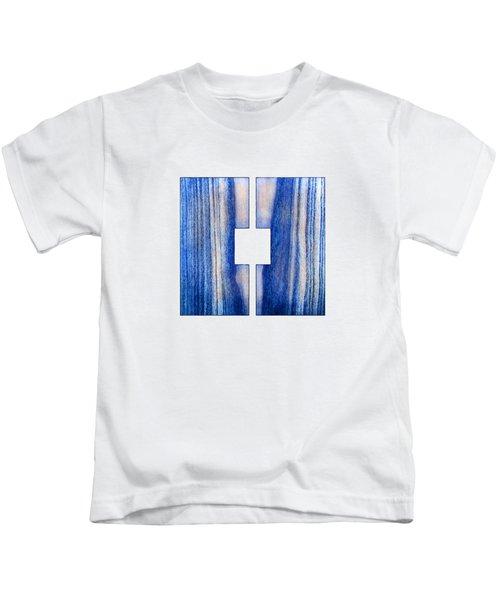 Split Square Blue Kids T-Shirt