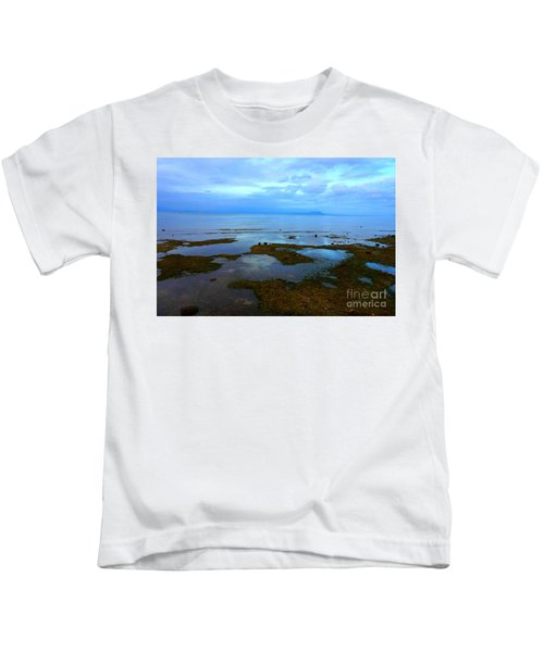 Spooky Morning Tide Receded From Beach Kids T-Shirt