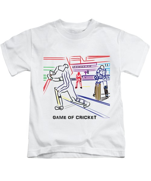Sports Fan Cricket Played India England Pakistan Srilanka Southafrica Kids T-Shirt by Navin Joshi