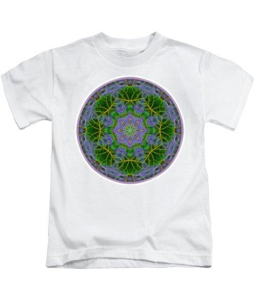 Spring Bloom Colors Mandala Kids T-Shirt