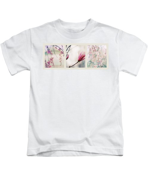 Spring Blossom Triptych Kids T-Shirt