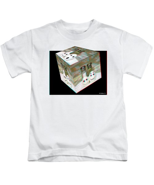 Square Meal - Use Red-cyan 3d Glasses Kids T-Shirt
