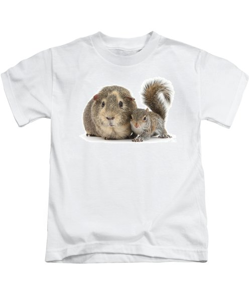 Squirrel And Guinea Kids T-Shirt