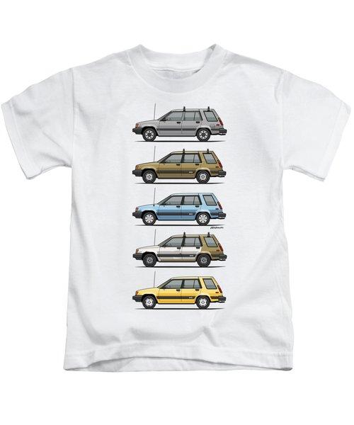 Stack Of Mark's Toyota Tercel Al25 Wagons Kids T-Shirt