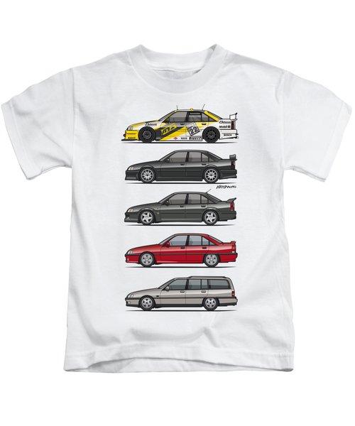 Stack Of Opel Omegas Vauxhall Carlton A Kids T-Shirt