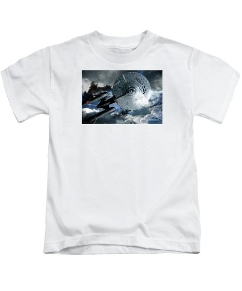 Star Trek Into Darkness, Original Mixed Media Kids T-Shirt by Thomas Pollart