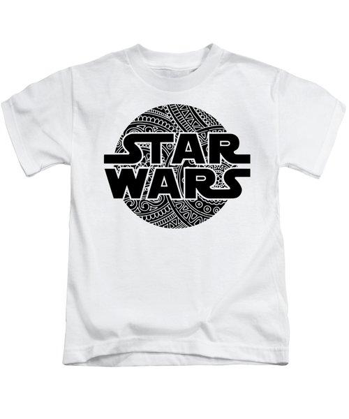 Star Wars Art - Logo - Black Kids T-Shirt