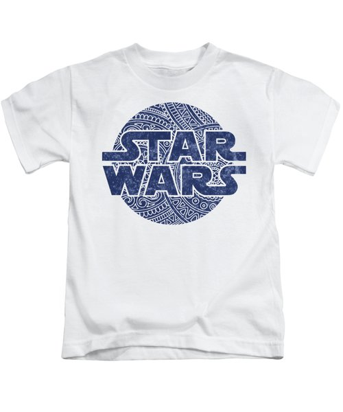 Star Wars Art - Logo - Blue Kids T-Shirt