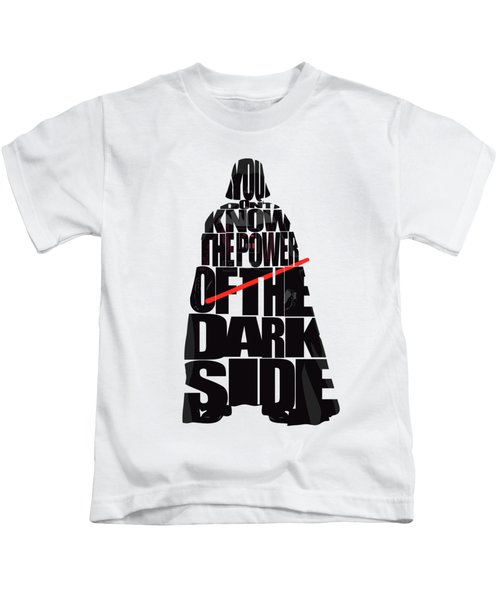 Star Wars Inspired Darth Vader Artwork Kids T-Shirt