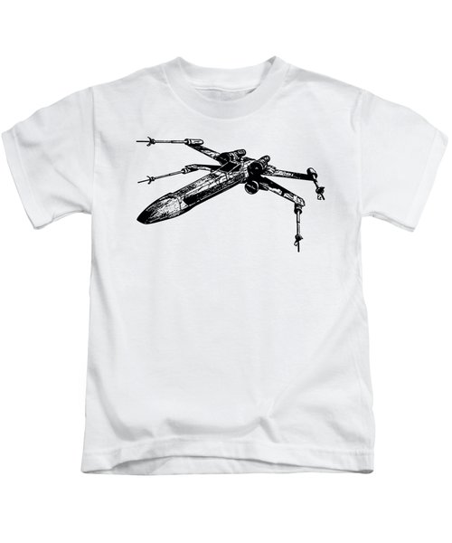 Star Wars T-65 X-wing Starfighter Tee Kids T-Shirt by Edward Fielding