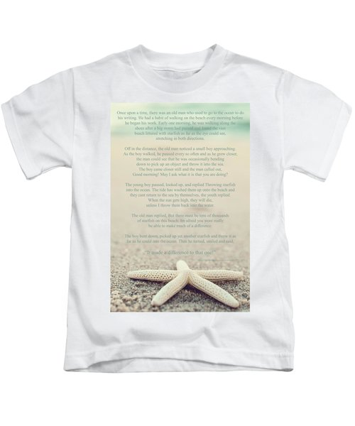 Starfish Make A Difference Vintage Set 1 Kids T-Shirt