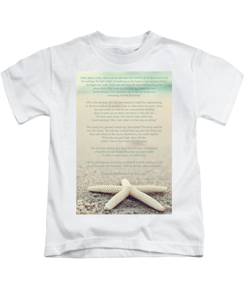 Starfish Make A Difference Vintage Set 1 Kids T-Shirt