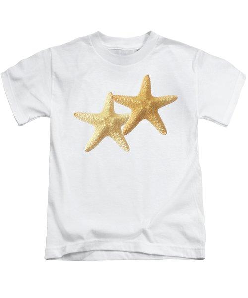 Starfish On White Kids T-Shirt