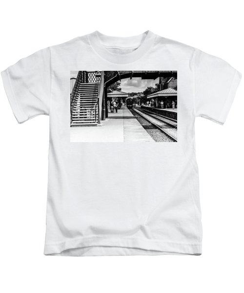 Steam Train In The Station Kids T-Shirt