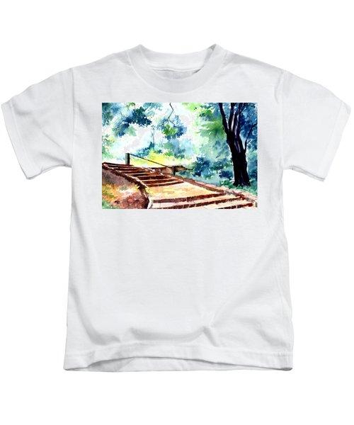 Steps To Eternity Kids T-Shirt